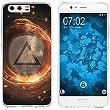 PhoneNatic Case für Huawei P10 Silikon-Hülle Element Feuer M3 Case P10 Tasche + 2 Schutzfolien