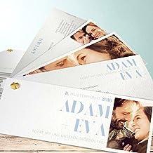 Ausgefallene Einladungskarten Hochzeit, Vollendung 40 Karten, Kartenfächer  210x80 Inkl. Weißer Umschläge, ...
