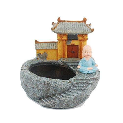 NWFashion Retro Chinesischer Buddha Hall, Teich Innen Blume. Sukkulente, Übertopf/Topf Container -