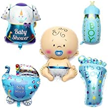 PuTwo Globos de helio Baby Shower decoración de fiestas cumpleaños de bebé 30 pulgadas 5 piezas/set