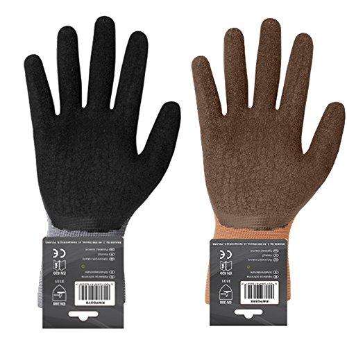 12 Paar Arbeitshandschuhe mit Latexbeschichtung Gr.8-10 Montagehandschuhe Gartenhandschuhe Arbeitsbekleidung Sicherheitshandschuhe Schutzhandschuhe