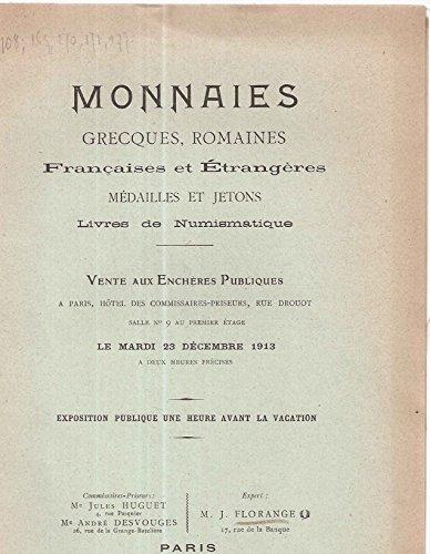 Monnaies Grecques,romaines françaises et étrangères médailles et jetons livres de Numismatique par Collectif