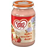 Cow & Gate bébé Solde Apple & Strawberry Dessert 7mois + (200g) - Paquet de 6