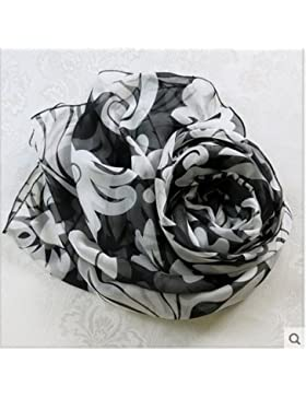 Ding Decoration Pañuelo De Seda Salvaje Largo Chal Mujer, 200 * 65 Cm