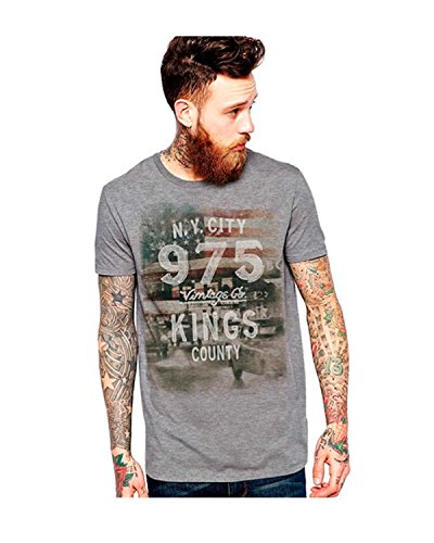 Jack & Jones T-Shirt Slim Fit Grau (Light Grey Melange/Slim)