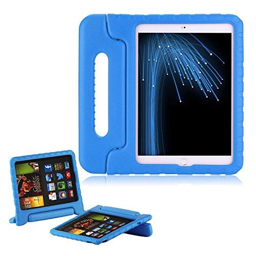 Preisvergleich Produktbild Kinder Hülle für iPad Pro 9.7, CAM-ULATA EVA Stoßfest Leichtgewicht Kinderfreundlich Griff Schutzhülle Standhülle Für iPad Pro 9,7 Zoll 2016 Tablette, Blau