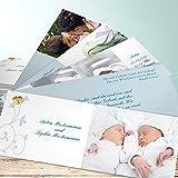 Postkarte Geburt, Zöglinge 200 Karten, Kartenfächer 210x80 inkl. weiße Umschläge, Blau