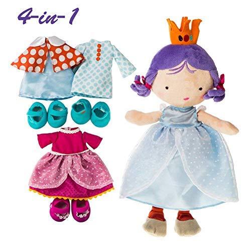 (Labebe Vorschule Mädchen 4-in-1 Prinzessin Dress up Set / Geschenk, Rolle Spielen Puppe, vorgeben Spiel Spielzeug - Jolie)