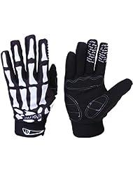 Fahrrad Skelett Muster Voll Finger warmen Radsport Handschuhe schwarz + weiß