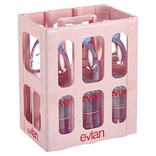 Evian Einweg natürliches Mineralwasser (6 x 1,25 l) (Evian Wasser)