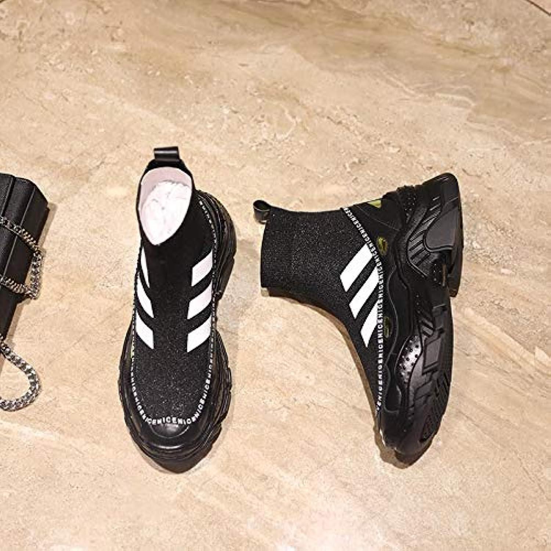 buy online 6485c 53d96 Shukun Bottes Chaussures pour Femmes d \ 'Automne, 'Automne, 'Automne,  Chaussettes Bottes Courtes Chaussures Tout-Aller Bottes de...B07KDV4DSVParent  676a6e
