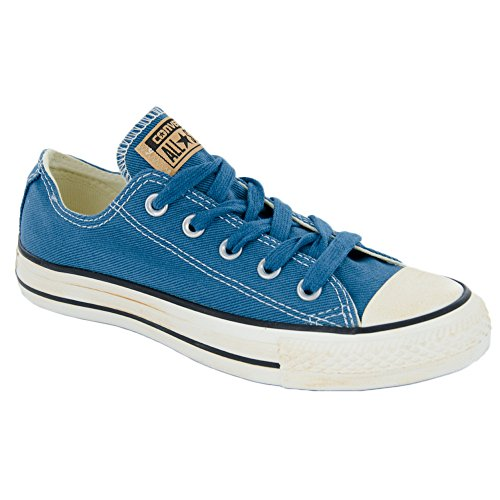 Converse Chuck Taylor All Star Homme Vintage Washed Twill Ox, Baskets mode homme Bleu
