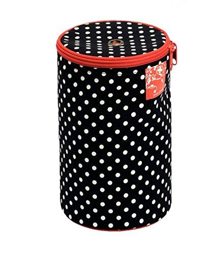 Prym Aiguilles à tricoter Sac de rangement à pois noir, blanc & rouge + Guide Craft