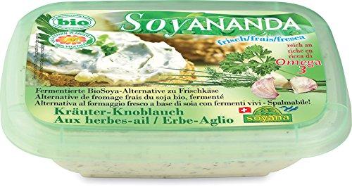 Soyana Soja-Frischkäse-Ersatz mit Kräutern & Knoblauch inkl. Kühlverpackung (140 g) - Bio