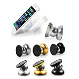 """Oro, plata, negro, 3 color al azar//Material: aleación de aluminio, imán de neodimio, hierro inoxidable Peso neto: sobre 91g Conveniente para el teléfono en 5.5 """", tales como iPhone 6 más, Samsung Nota 3, etc. Magnética diámetro de la placa: aproxima..."""