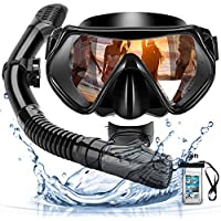 Maschera Subacquea,Snorkeling Combo Set,Maschera da Snorkeling,maschera che sigillasse bene,Anti-Nebbia Antiperdita Design,Kit Snorkeling Professionale per Adulti