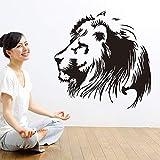yaonuli Leo Vinyle Autocollant Mural pour Salon tête de Lion Chambre décalcomanies vinyliques décoration de la Maison Animal Sticker Mural 85x55 cm