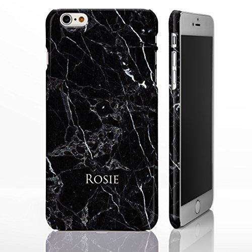 iCaseDesigner Schutzhülle für iPhone-Modelle, Marmor-Look mit individuellem Namen oder Initialen, glänzend, Individuelles Design, plastik, 8: Black and White Marble, iPhone 6+ / 6S+ Plus - Slim Case 8: Black and White Marble