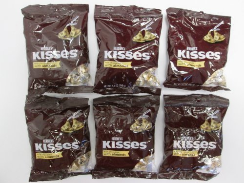hersheys-kisses-milk-chocolates-with-almonds-53-ounce-bag-pac-k-of-6-by-the-hershey-company