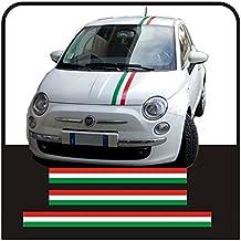 Pegatinas kit bandas bandera italiana Tiras del capo y del tronco tricolor (TRICOLOR COMO EN