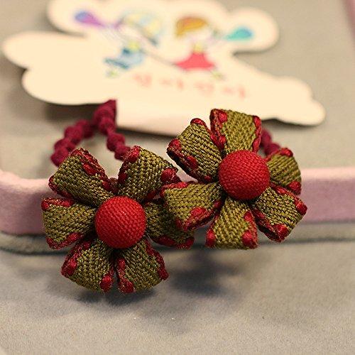 Tlue Tathtub nische Version Des Kinder Haar Baumwolle Flower Ring Tousheng Süsse Schönheit Und Tong Schafe Horn Seil Kopfschmuck Blume Schmuck, Fünf, Grün (Schaf Grüne Kostüm)