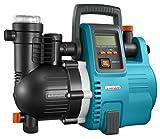 Grupo a presión electrónico 5000/5E Comfort de GARDENA: bomba doméstica, pantalla LCD, ahorra energía, caudal 5000l/h, motor de 1300W, disyuntor térmico, seguro de funcionamiento en seco (1759-20)