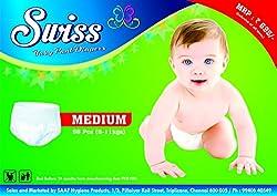 Swiss Baby Pant Diaper - M (56 Pcs)
