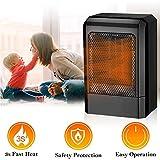 Heizlüfter,Ventilator Heizlüfter,Heizlüfter Energiesparend,Heizlüfter Elektrische,Überhitzungsschutz Heizlüfter für den Schreibtisch, Küche, Schlafzimmer und Wohnheim für den Innenbereich