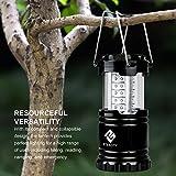 Etekcity Faltbare LED Campinglampe Camping- und Garten- Laterne, Ideal für Terrasse, Camping, Wandern, Notfall, Outdoor-Aktivitäten, Schwarz -