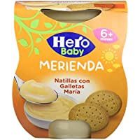 Hero Baby Merienda Natillas Galleta - Pack de 2 x 130 g - Total: 260 g