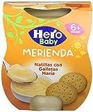 Hero Baby Merienda Natillas Galleta - Pack de 2 x 130 g - Total: 260 g