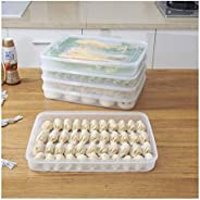 Food Storage Dumpling Box Fresh Refrigerator Case Cakes Non-Stick Tray Meat Pastry Container