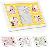 Baby Hand- und Fußabdruck-Set mit Bilderrahmen von ® Babyboon | 4 FARBEN IN EINER PACKUNG | Das perfekte Geschenk für frischgebackene Eltern oder als Taufgeschenk | Perfekter Hand- und Fußabdruck – ÜBERZEUGEN SIE SICH SELBST!