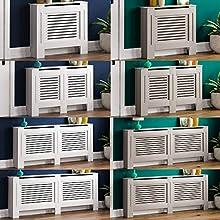 Vida Designs Milton Radiator Cover White Modern Painted MDF Cabinet, Extra Large