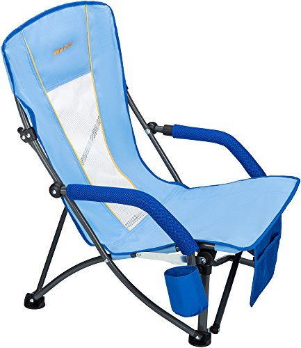 WEJOY Fuerte y Estable Mesh Back Plegable Playa o Silla de Camping...