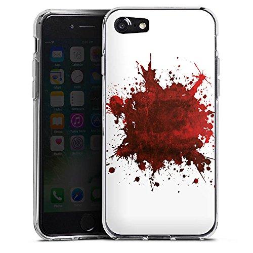 Apple iPhone X Silikon Hülle Case Schutzhülle Blut Spritzer Grunge Silikon Case transparent