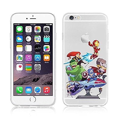 Ronney Super Héros Marvel & Cartoon Coque transparente en TPU souple pour Apple iPhone 5/5S/5C/5S