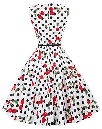1950er rockabilly kleid ärmellos sommerkleid a linie festliches kleid abschlussballkleid Größe S CL6086-41 - 2