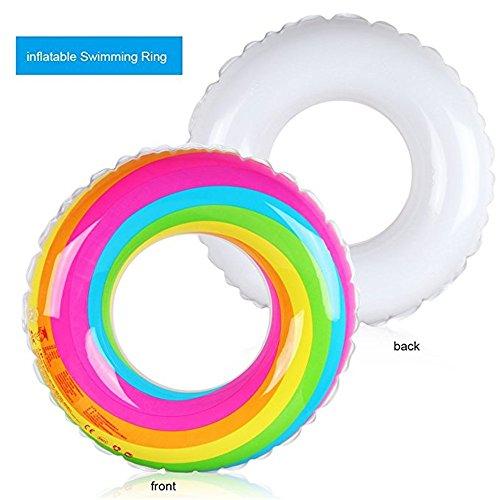 EODUDO-S Schwimmsitz für Erwachsene Kinder Kinder Mädchen Jungen Regenbogen Aufblasbare PVC Schwimmring Pool, Weitere Stile (Größe : S)