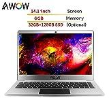 Ultrabook Notebook da 14.1 Pollici Notebook da Lavoro Notebook da Internet 6 GB di RAM / 32 GB di ROM Windows 10 - AWOW HeavenBook con CPU Intel APOLLO LAKE N3450 Quad Core