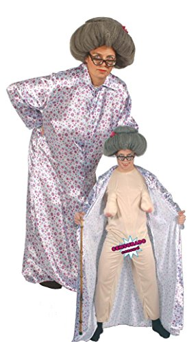 KOSTÜM - SEXY OMA - Größe 52-54 (L) (Oma Halloween Kostüme)