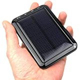 PowerBee ® Elite (Black, 2000) Solar Phone Charger for iPhone 5S 5C 5 4S 4, iPods, iPad Mini Retina (Apple Adapters covered by female USB port), Samsung Galaxy Note 3, Note 2, S4, S3, S2, Most Android Smart Phones and Tablets, More Other USB-charged Devices