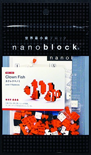 Nanoblock NAN-NBC002 Nanoblock Clown Fish MC Orange and White