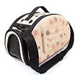 Xinnegen Portable Pet Backpack Travel Pet Bag Outdoor Carry Bag Dog Bag,Pink (Color : Metallic)