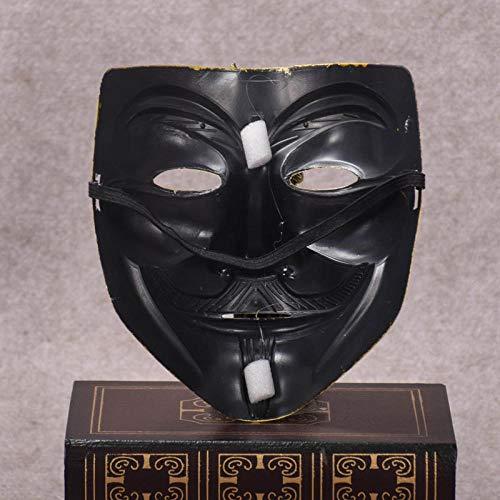 Kostüm Dance Team Weihnachten - HMHH Halloween-Maske Horror Team Street Dance Mask V Gesichtsmaskerade Neue Gruselig Schrecklich Gesicht Maske Kopfmaske Furchtbar für Halloween Weihnachten Kostüm Party Erwachsenenmaske