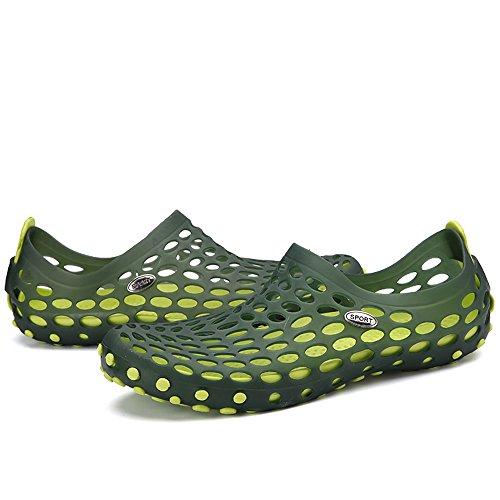 VILOCY Herren Trainingsanzug Schnell trocknend Schwimmen Strandschuhe Aquaschuhe Erwachsene Grün