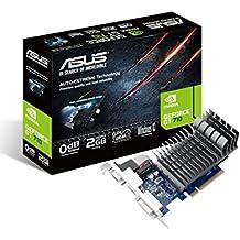 ASUS 710-2-SL-BRK NVIDIA GeForce GT 710 2GB - Tarjeta gráfica (Pasivo, NVIDIA, GeForce GT 710, GDDR3, PCI Express 2.0, 2560 x 1600 Pixeles)