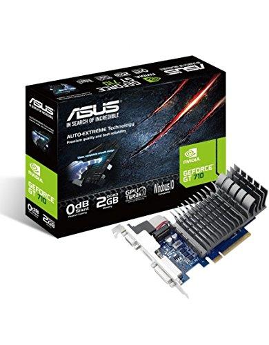 Asus VGA GeForce 710-2-SL-BRK Scheda Grafica, Nero/Argento