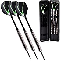 Winline 23/21 Grams Steel Darts Set Tungsten Look Barrels With 3 More Shafts And 1 Case