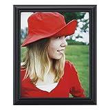 RPJC 20x25 cm (8x10 Inch) Bilderrahmen aus Massivholz High Definition-Glas für Bilder ohne Passepartout zur Wandbefestigung Fotorahmen Schwarz